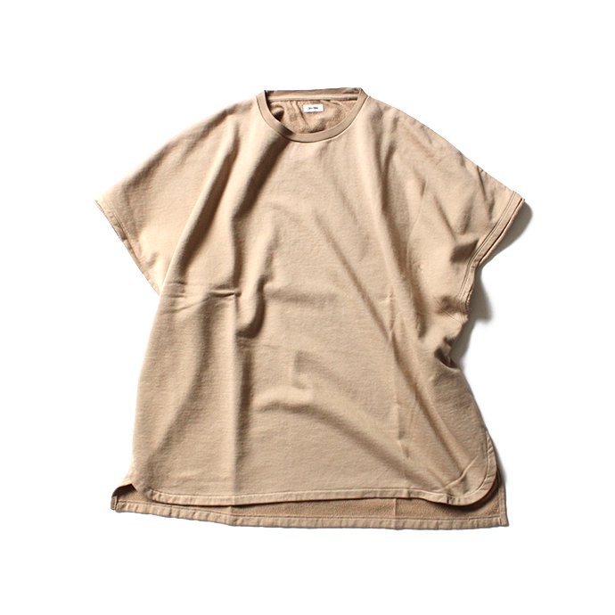 blurhms French Terry Cut Off Box Tee BHS-18SS022 - Beige 01
