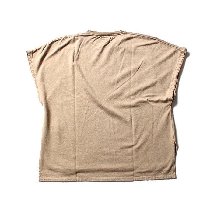 blurhms French Terry Cut Off Box Tee BHS-18SS022 - Beige 02