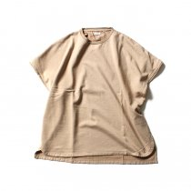 French Terry Cut Off Box Tee BHS-18SS022 - Beige