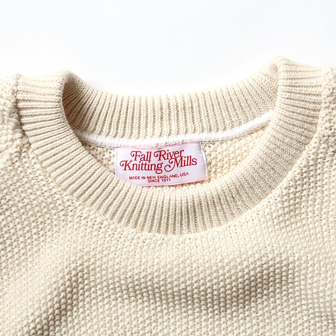 128893332 Fall River Knitting Mills / Seed Stitch Crew Neck H/S Sweater - ナチュラル 02