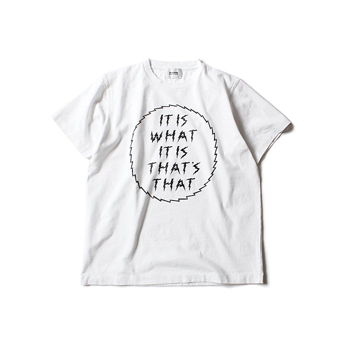 129175883 blurhms ROOTSTOCK / IT IS WHAT IT IS Tee BHS-RKSS1710018E - White 01