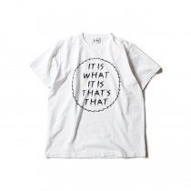 blurhms IT IS WHAT IT IS Tee BHS-RKSS1710018E - White