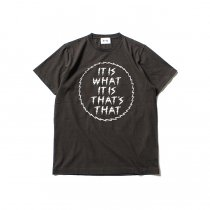 blurhms ROOTSTOCK / IT IS WHAT IT IS Tee BHS-RKSS1710018E - Ash Black