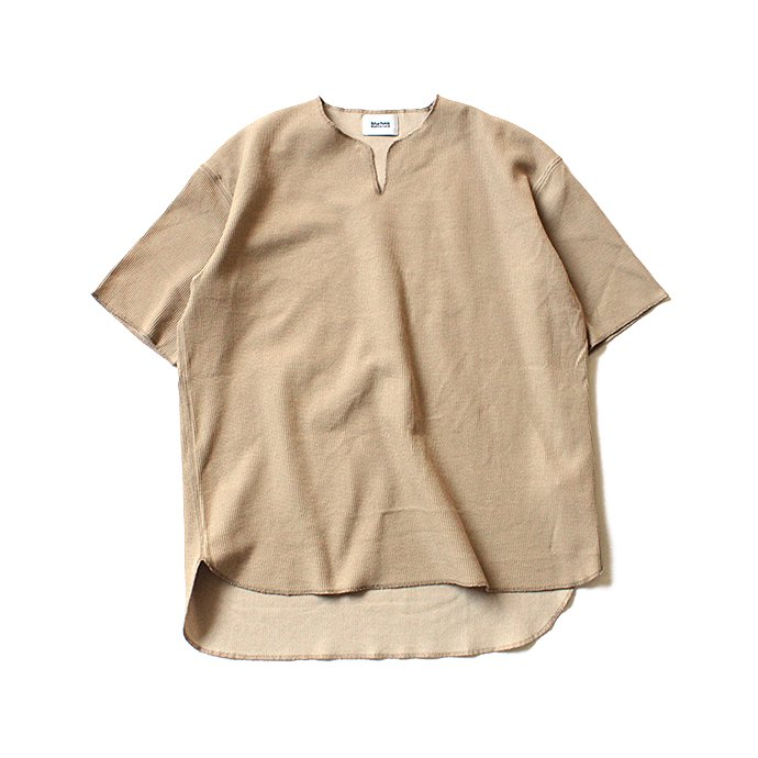 129322063 blurhms ROOTSTOCK / Rough & Smooth Thermal Loose Fit Over-neck BHS-RKSS17018 - Beige 01