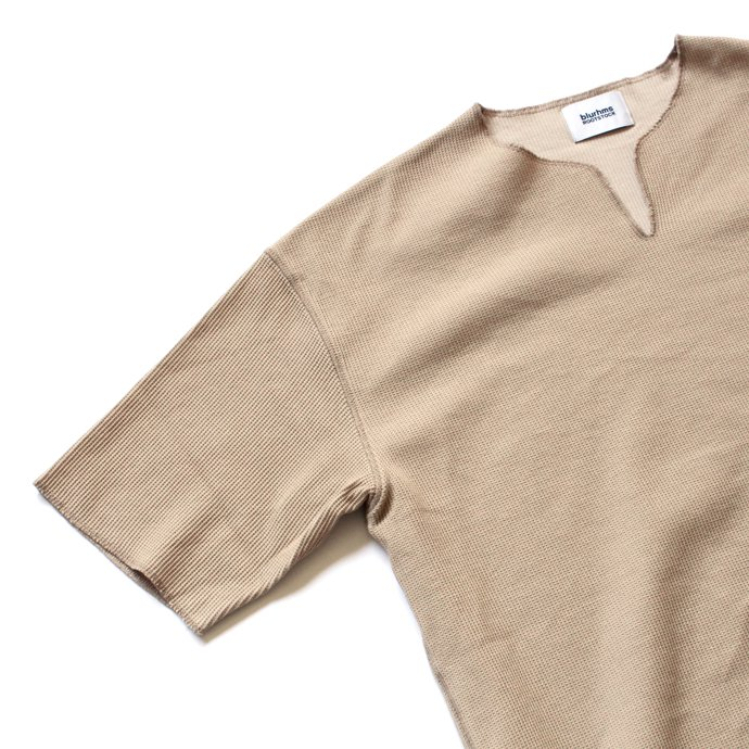 129322063 blurhms ROOTSTOCK / Rough & Smooth Thermal Loose Fit Over-neck BHS-RKSS17018 - Beige 02
