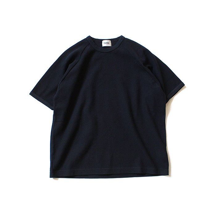 129322258 blurhms ROOTSTOCK / Rough & Smooth Thermal Loose Fit Tee BHS-RKSS17008 - Black Navy 01
