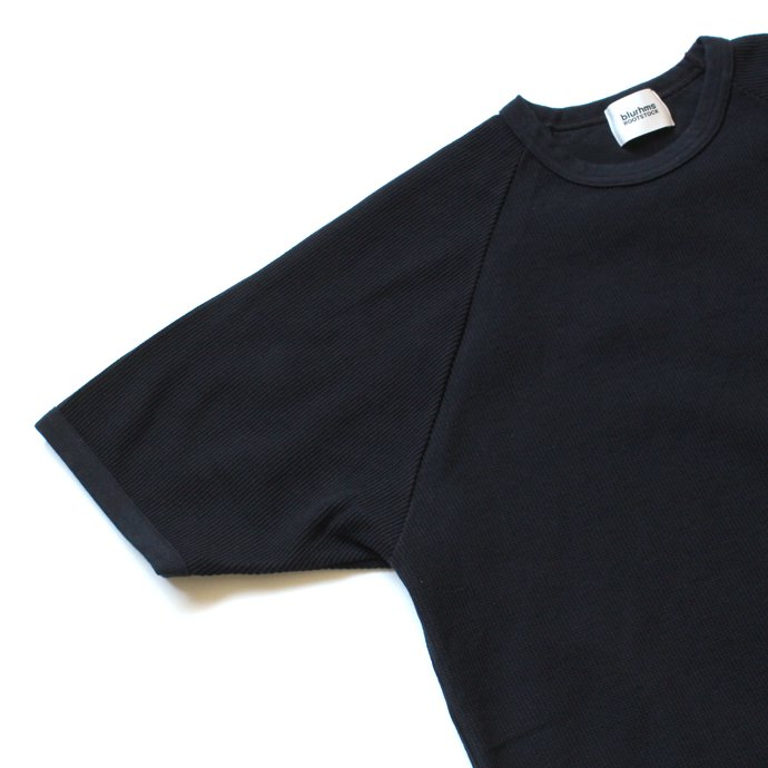 129322258 blurhms ROOTSTOCK / Rough & Smooth Thermal Loose Fit Tee BHS-RKSS17008 - Black Navy 02