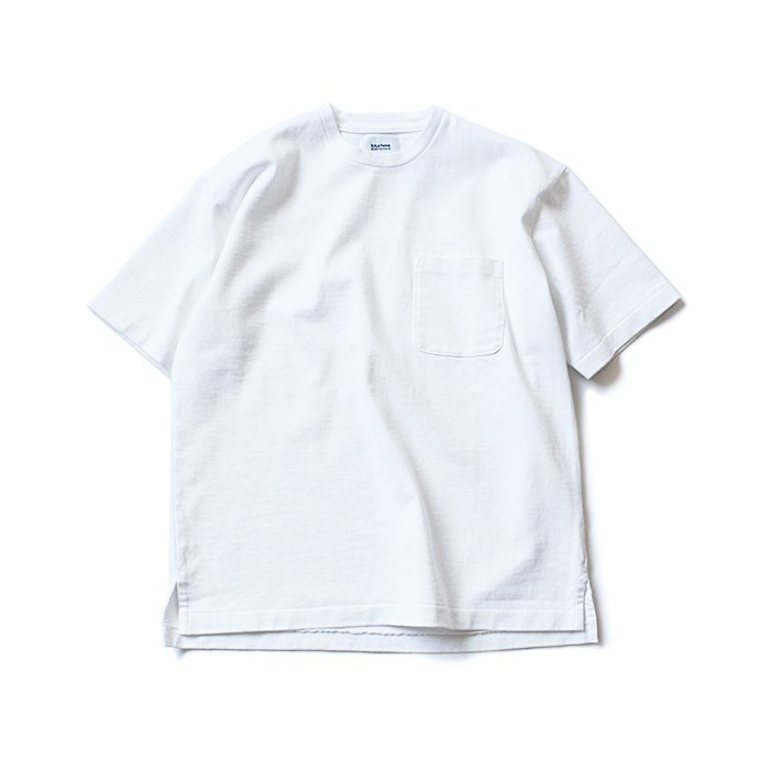 129322486 blurhms ROOTSTOCK / Heavyweight & Soft Loose Fit Pocket Tee BHS-RKSS17016 - White 01
