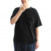 blurhms / Linen Pile Pocket Tee BHS-18SS018 - Black