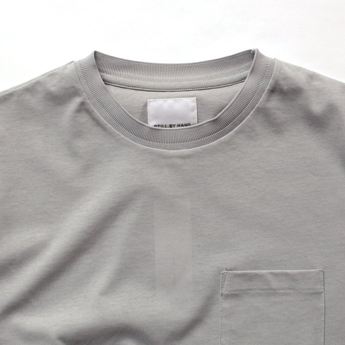129452706 STILL BY HAND / リンガー ポケットTシャツ CS0381 - グレー<img class='new_mark_img2' src='//img.shop-pro.jp/img/new/icons47.gif' style='border:none;display:inline;margin:0px;padding:0px;width:auto;' /> 02