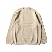 crepuscule / Moss Stitch L/S 鹿の子編みクルーネックプルオーバー 1801-003 Beige<img class='new_mark_img2' src='//img.shop-pro.jp/img/new/icons47.gif' style='border:none;display:inline;margin:0px;padding:0px;width:auto;' />