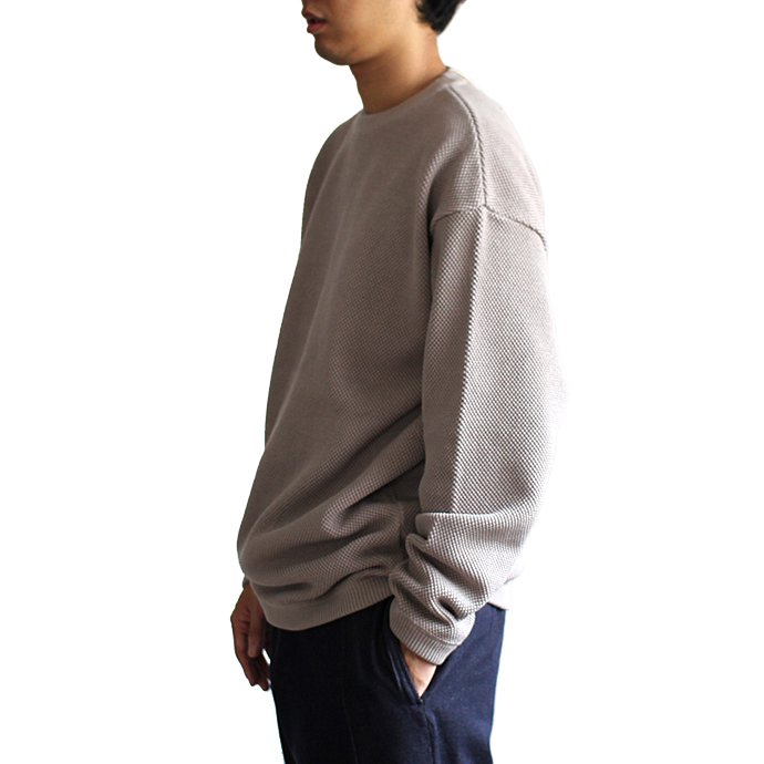 129475547 crepuscule / Moss Stitch L/S 鹿の子編みクルーネックプルオーバー 1801-003 Brown<img class='new_mark_img2' src='//img.shop-pro.jp/img/new/icons47.gif' style='border:none;display:inline;margin:0px;padding:0px;width:auto;' /> 02