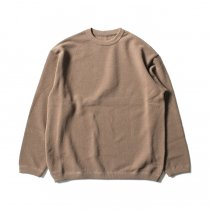 crepuscule / Moss Stitch L/S 鹿の子編みクルーネックプルオーバー 1801-003 Brown<img class='new_mark_img2' src='//img.shop-pro.jp/img/new/icons47.gif' style='border:none;display:inline;margin:0px;padding:0px;width:auto;' />