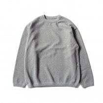 crepuscule / Moss Stitch L/S 鹿の子編みクルーネックプルオーバー 1801-003 Gray<img class='new_mark_img2' src='//img.shop-pro.jp/img/new/icons47.gif' style='border:none;display:inline;margin:0px;padding:0px;width:auto;' />