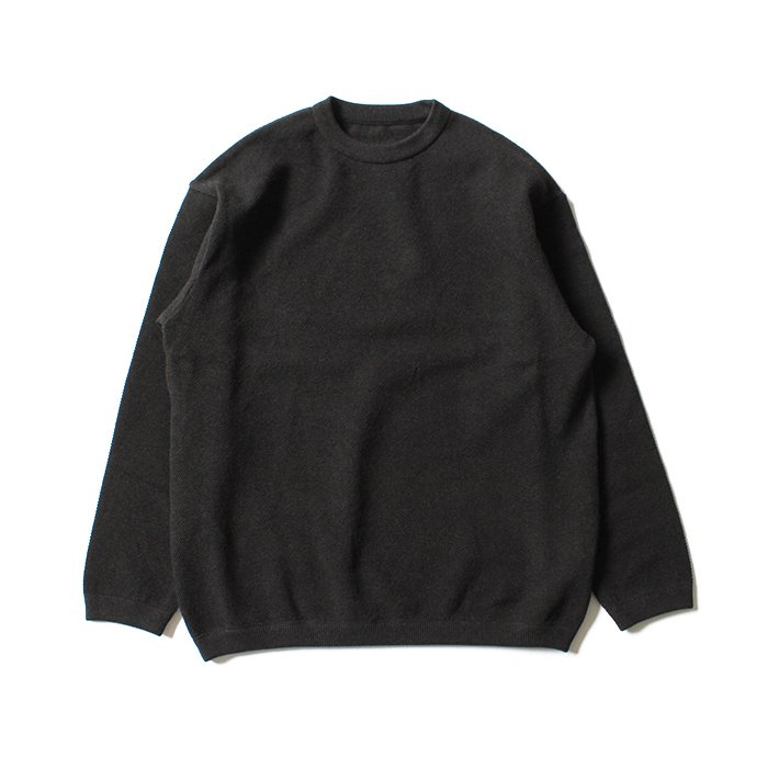 129475609 crepuscule / Moss Stitch L/S 鹿の子編みクルーネックプルオーバー 1801-003 C.Gray<img class='new_mark_img2' src='//img.shop-pro.jp/img/new/icons47.gif' style='border:none;display:inline;margin:0px;padding:0px;width:auto;' /> 01