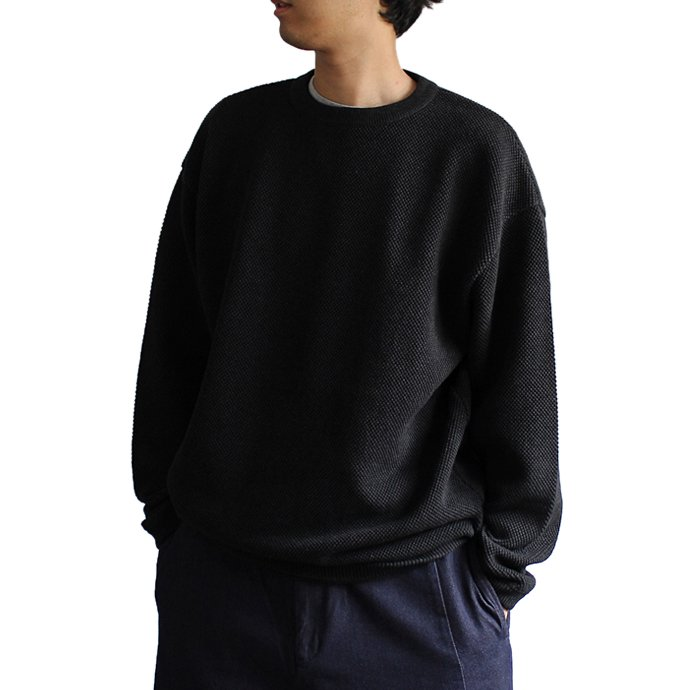 129475609 crepuscule / Moss Stitch L/S 鹿の子編みクルーネックプルオーバー 1801-003 C.Gray<img class='new_mark_img2' src='//img.shop-pro.jp/img/new/icons47.gif' style='border:none;display:inline;margin:0px;padding:0px;width:auto;' /> 02