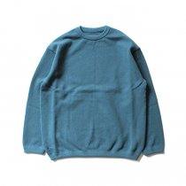 crepuscule / Moss Stitch L/S 鹿の子編みクルーネックプルオーバー 1801-003 Bluegreen<img class='new_mark_img2' src='//img.shop-pro.jp/img/new/icons47.gif' style='border:none;display:inline;margin:0px;padding:0px;width:auto;' />