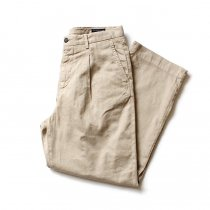 RICCARDO METHA / One Tuck Wide Trousers Garment Wash ワンタック ワイドトラウザー ガーメントウォッシュ - Beige