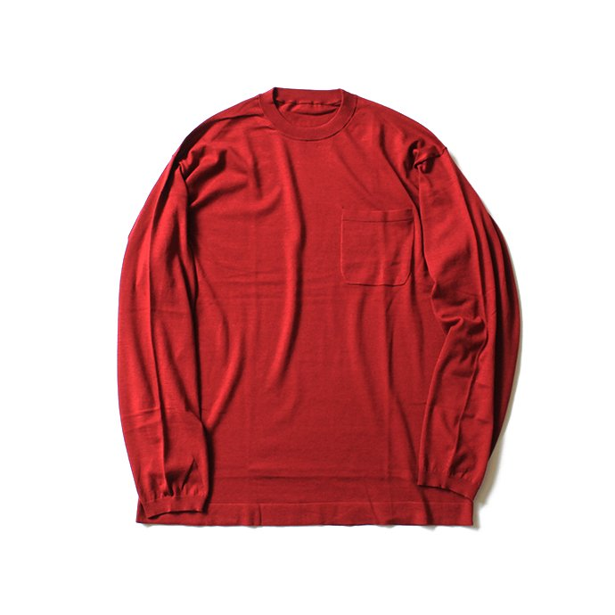 130068729 crepuscule / knit tee L/S ロングスリーブ ニットTシャツ 1801-007 - Red<img class='new_mark_img2' src='//img.shop-pro.jp/img/new/icons47.gif' style='border:none;display:inline;margin:0px;padding:0px;width:auto;' /> 01