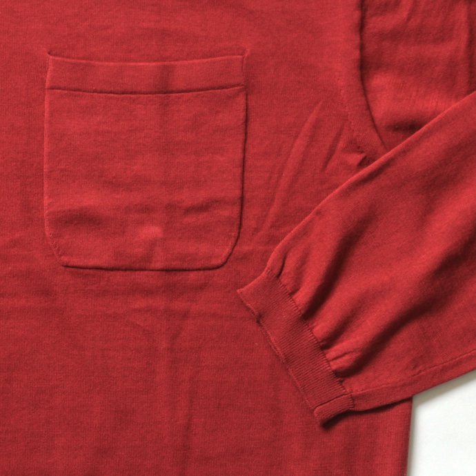 130068729 crepuscule / knit tee L/S ロングスリーブ ニットTシャツ 1801-007 - Red<img class='new_mark_img2' src='//img.shop-pro.jp/img/new/icons47.gif' style='border:none;display:inline;margin:0px;padding:0px;width:auto;' /> 02