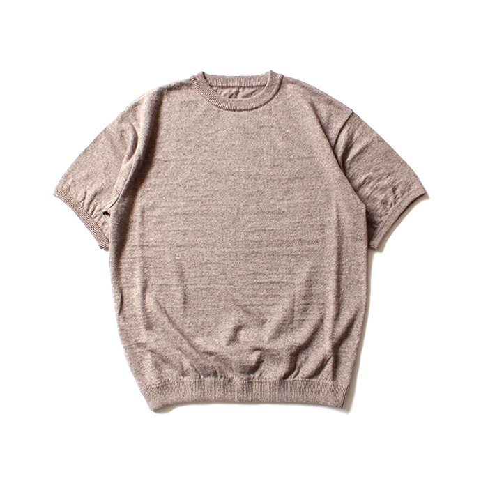 130069196 crepuscule / linen S/S knit リネン半袖ニット 1801-010 - Brown<img class='new_mark_img2' src='//img.shop-pro.jp/img/new/icons47.gif' style='border:none;display:inline;margin:0px;padding:0px;width:auto;' /> 01