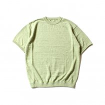 crepuscule linen S/S knit リネン半袖ニット 1801-010 - Green<img class='new_mark_img2' src='//img.shop-pro.jp/img/new/icons47.gif' style='border:none;display:inline;margin:0px;padding:0px;width:auto;' />