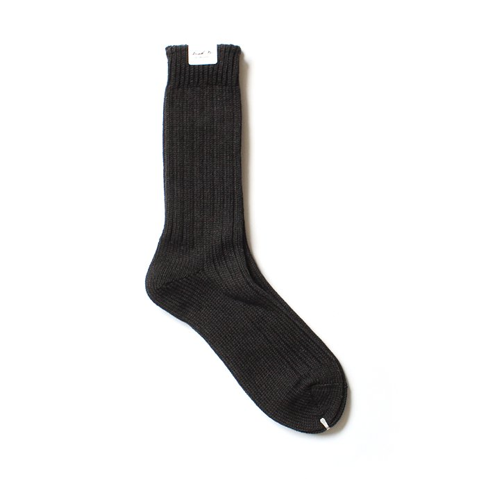 130441498 Trad Marks / Old Rib Socks リブソックス - Ash Black 01