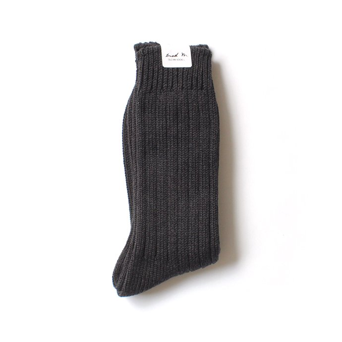 130441498 Trad Marks / Old Rib Socks リブソックス - Ash Black 02