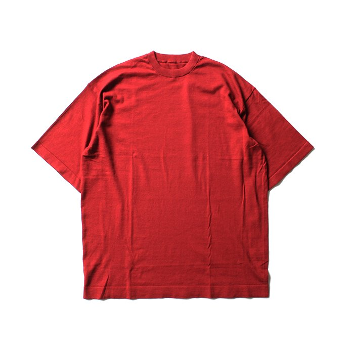 130593481 crepuscule / knit tee S/S ニットTシャツ 1801-008 - Red<img class='new_mark_img2' src='//img.shop-pro.jp/img/new/icons47.gif' style='border:none;display:inline;margin:0px;padding:0px;width:auto;' /> 01
