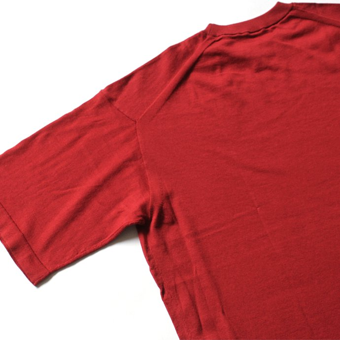 130593481 crepuscule / knit tee S/S ニットTシャツ 1801-008 - Red<img class='new_mark_img2' src='//img.shop-pro.jp/img/new/icons47.gif' style='border:none;display:inline;margin:0px;padding:0px;width:auto;' /> 02