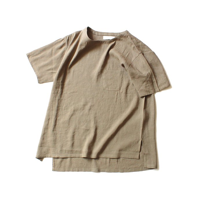 130664900 THEE(シー)/ LV-CS-01 linen tee - BEIGE リネンTシャツ ベージュ<img class='new_mark_img2' src='//img.shop-pro.jp/img/new/icons47.gif' style='border:none;display:inline;margin:0px;padding:0px;width:auto;' /> 01