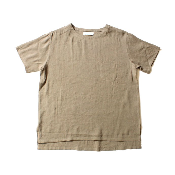 130664900 THEE(シー)/ LV-CS-01 linen tee - BEIGE リネンTシャツ ベージュ<img class='new_mark_img2' src='//img.shop-pro.jp/img/new/icons47.gif' style='border:none;display:inline;margin:0px;padding:0px;width:auto;' /> 02