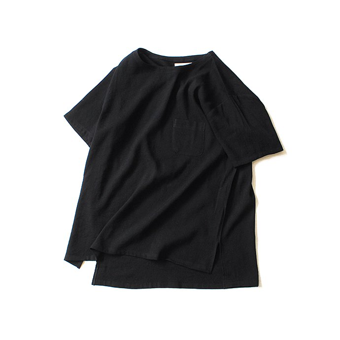 130664938 THEE(シー)/ LV-CS-01 linen tee - BLACK リネンTシャツ ブラック<img class='new_mark_img2' src='//img.shop-pro.jp/img/new/icons47.gif' style='border:none;display:inline;margin:0px;padding:0px;width:auto;' /> 01