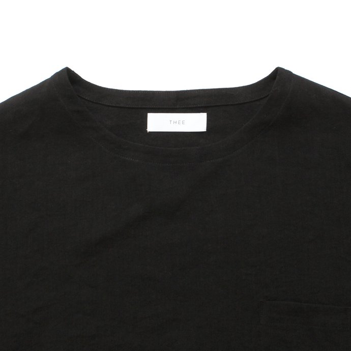 130664938 THEE(シー)/ LV-CS-01 linen tee - BLACK リネンTシャツ ブラック<img class='new_mark_img2' src='//img.shop-pro.jp/img/new/icons47.gif' style='border:none;display:inline;margin:0px;padding:0px;width:auto;' /> 02