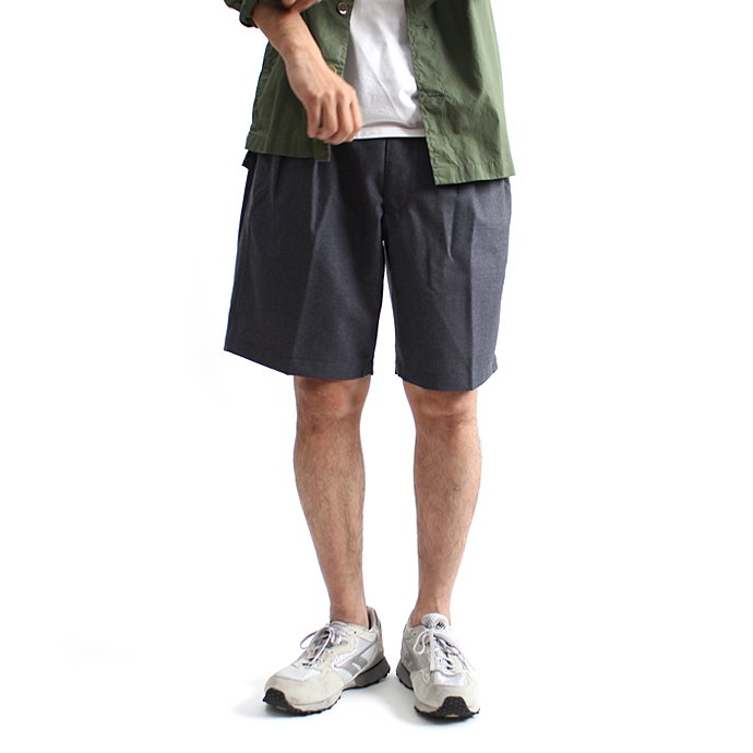 CEASTERS / 2P Summer Wool Easy Shorts 2タックサマーウールショーツ - L.Grey