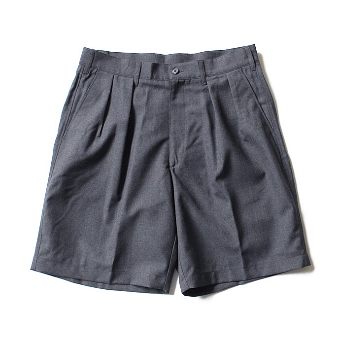 131248037 CEASTERS / 2P Summer Wool Easy Shorts 2タックサマーウールショーツ - L.Grey 02