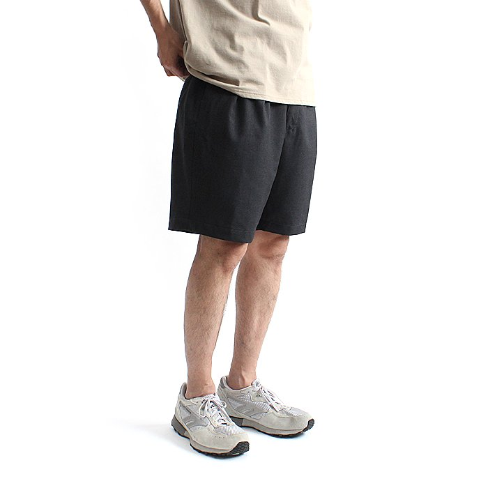 CEASTERS 2P Summer Wool Easy Shorts 2タックサマーウールショーツ - D.Grey 01