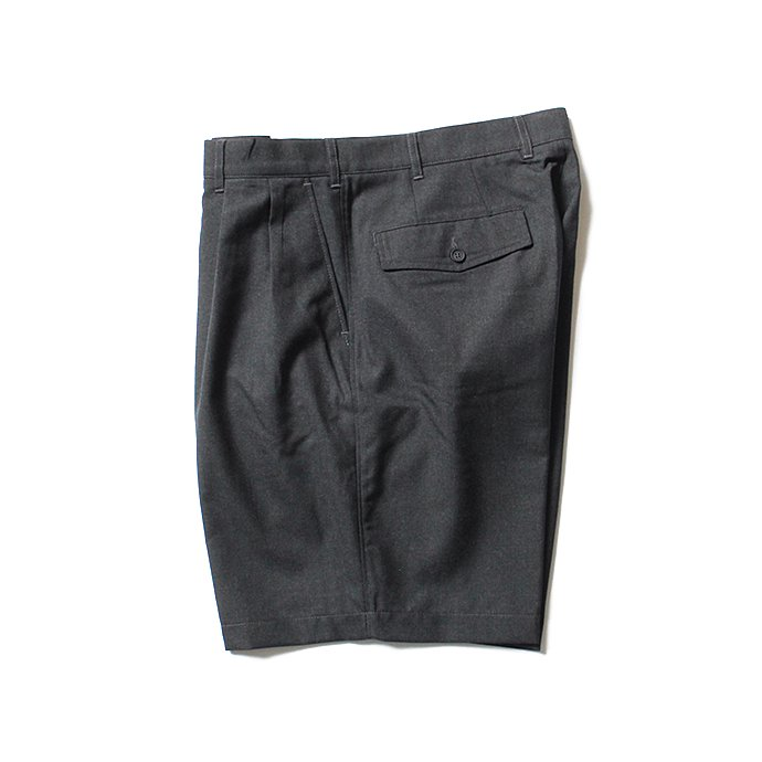 CEASTERS 2P Summer Wool Easy Shorts 2タックサマーウールショーツ - D.Grey 02