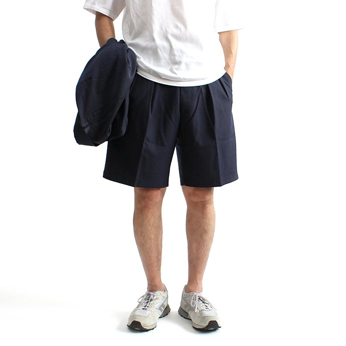CEASTERS 2P Summer Wool Easy Shorts 2タックサマーウールショーツ - Navy 01