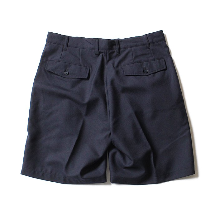 CEASTERS 2P Summer Wool Easy Shorts 2タックサマーウールショーツ - Navy 02