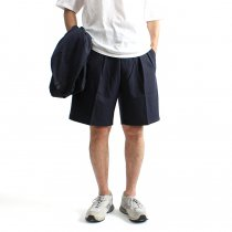 CEASTERS 2P Summer Wool Easy Shorts 2タックサマーウールショーツ - Navy