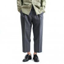1P Summer Wool Easy Trousers 1タックサマーウールパンツ - L.Grey