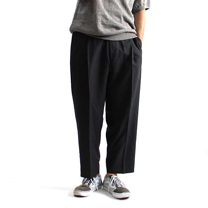 131248248 CEASTERS / 1P Summer Wool Easy Trousers 1タックサマーウールパンツ - D.Grey<img class='new_mark_img2' src='//img.shop-pro.jp/img/new/icons47.gif' style='border:none;display:inline;margin:0px;padding:0px;width:auto;' /> 01
