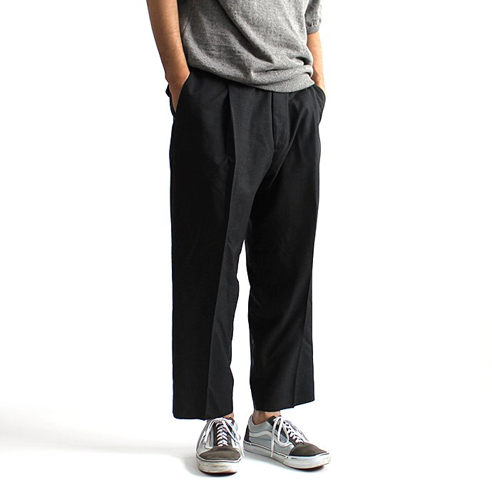 131248248 CEASTERS / 1P Summer Wool Easy Trousers 1タックサマーウールパンツ - D.Grey<img class='new_mark_img2' src='//img.shop-pro.jp/img/new/icons47.gif' style='border:none;display:inline;margin:0px;padding:0px;width:auto;' /> 02