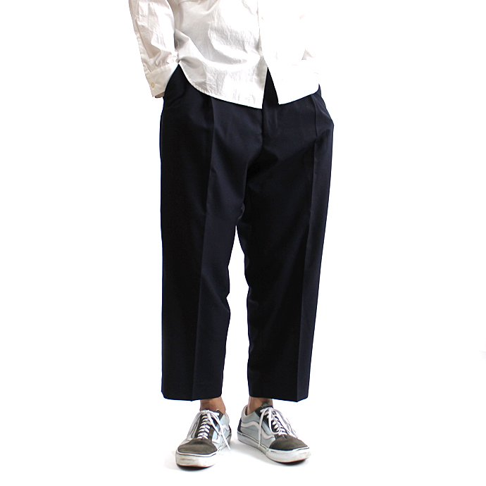 131248269 CEASTERS / 1P Summer Wool Easy Trousers 1タックサマーウールパンツ - Navy 01