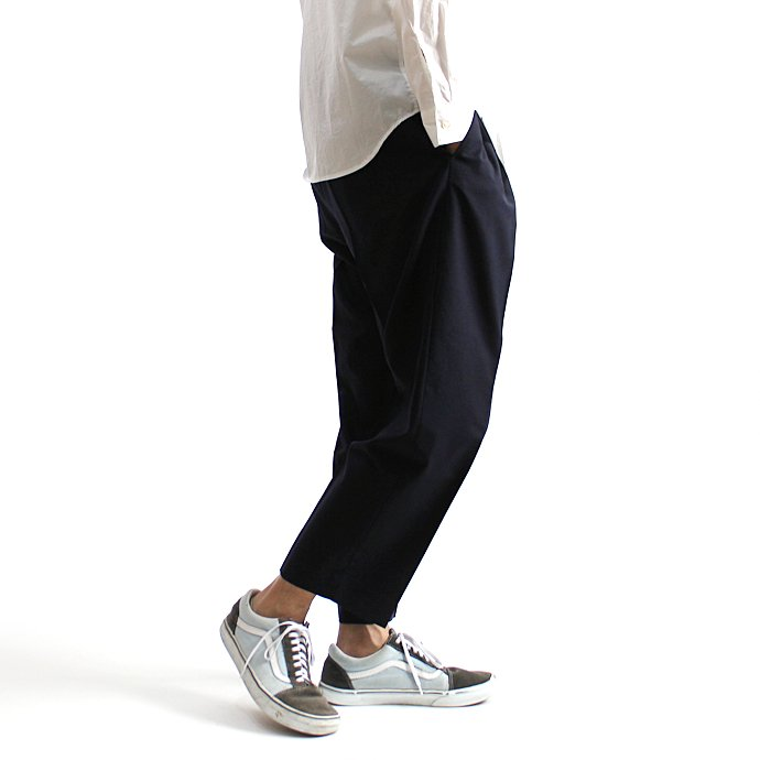 131248269 CEASTERS / 1P Summer Wool Easy Trousers 1タックサマーウールパンツ - Navy 02