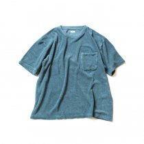 blurhms / Linen Pile Pocket Tee BHS-18SS018 - Blue Green