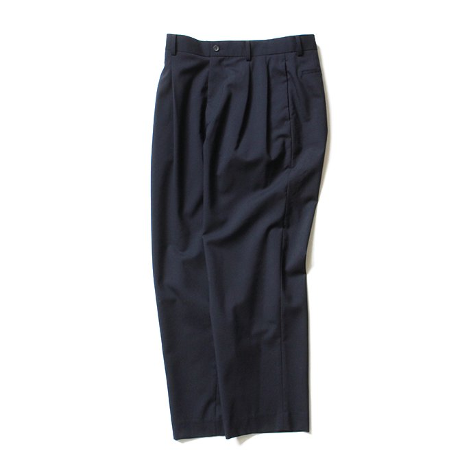 134426678 THEE(シー)/ high-rise wide trousers ハイウエストワイドトラウザーズ WT-PT-02 Navy 01