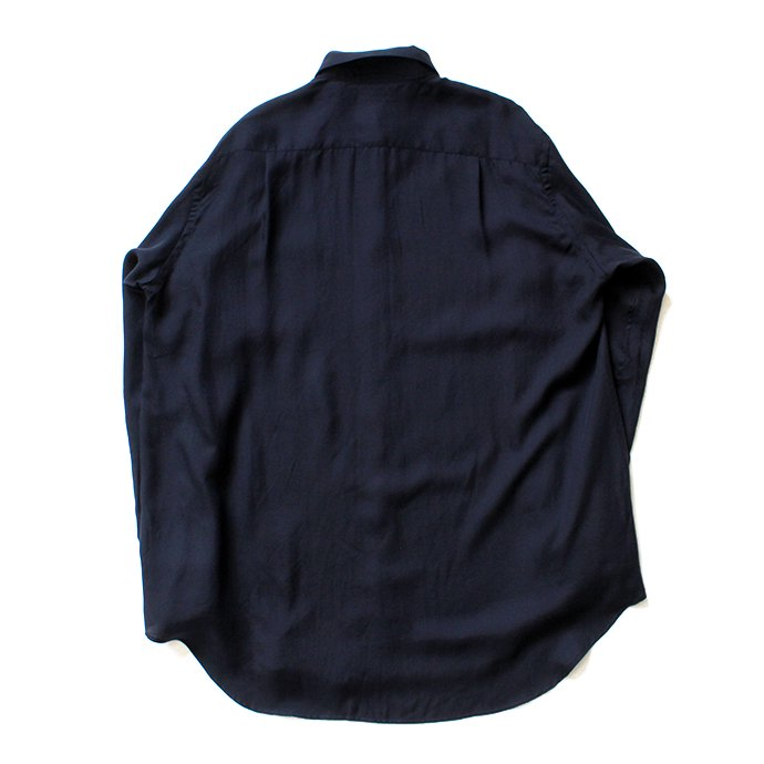 134583589 THEE(シー)/ RV-SH-03 drape double one button shirts - NAVY ダブルシャツ ネイビー 02