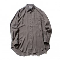 THEE(シー)/ RV-SH-03 drape double one button shirts - CHARCOAL ダブルシャツ チャコール